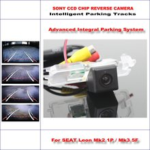 Buy Intelligent Parking Tracks Rear Camera SEAT Leon Mk2 1P / Mk3 5F Backup Reverse / NTSC RCA AUX HD SONY CCD 580 TV Lines for $44.21 in AliExpress store
