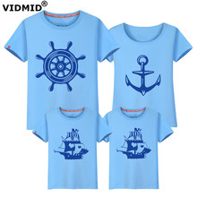 VIDMID Family set Love Summer Short-sleeve T-shirt Matching Family Clothing Outfits For Mother Daughter And Father Son 6001 11