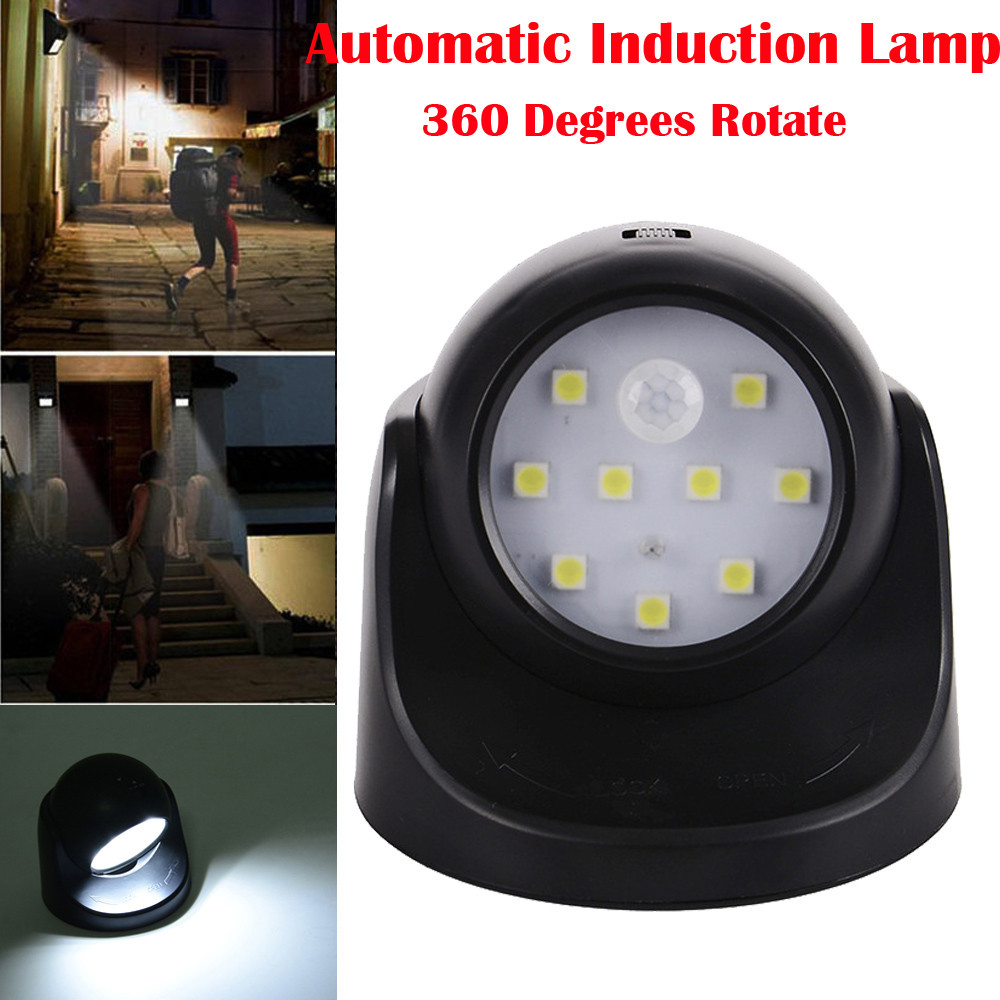 AkoMatial Smart Automatic 6Pcs LED Round Mini Night Light Motion Sensor Battery Operated Cabinet Stair Lamp Bedside Lamp Step Light for Parents