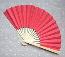 [I AM YOUR FANS] Free Shipping 250pcs/lot 23CML Red 2sides paper fan can be personalized name&date 11colors