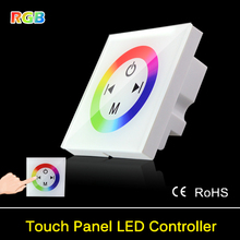 New Arrival 86 Wall LED Controller Touch Panel RGB Controller Dimmer DC12- 24V For LED Strip Light