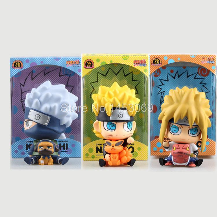 Naruto Uzumaki Naruto Namikaze Minato Hatake Kakashi Piggy Bank PVC Figures Collectible Model Toys<br>