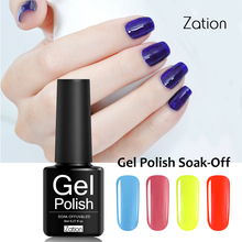 Zation Nail Varnish Colorful Nail Polish Paint Primer Gel Polish Lacquer Color UV Gel Nail Gel Hybrid Enamel Top Base Coat Nails(China)