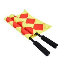 New Soccer Referee Flag The World Cup Fair Play Sports Match Football Linesman Flags Referee Equipment + Carry Bag