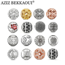 100 Styles Vintage Diy Crystal Beads Fit European Original DIY Bracelet Big Hole Rhinestone Cross Flower Cabochon Charms(China)