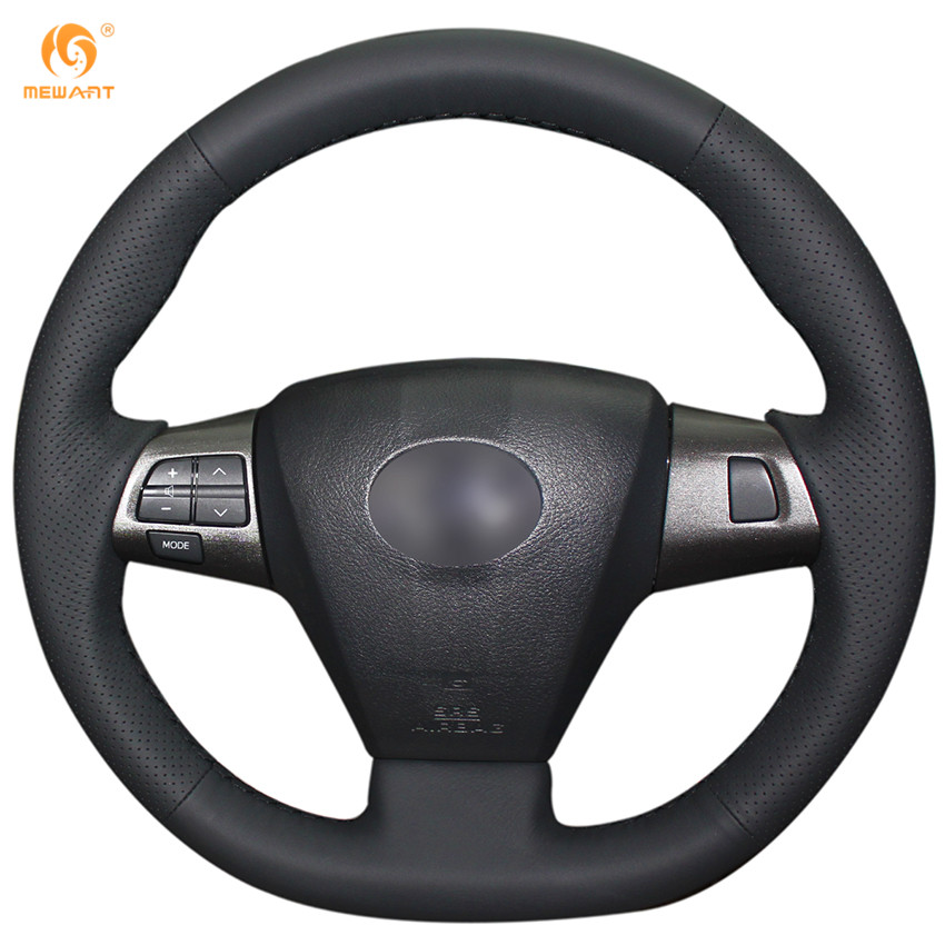 MEWANT Black Artificial Leather Car Steering Wheel Cover for Toyota Corolla 2011 2012 2013 RAV4 2011 2012(China (Mainland))
