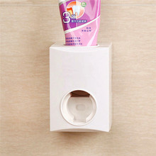 Wall Mounted Toothpaste Dispenser Touch Brush Toothpaste Squeezing Automatic Device with Super Strong Suction Cup(China)
