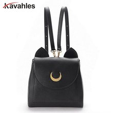 2016 Sailor Moon Bag Women Handbags Famous Brands Black White Cat PU Leather Women Shoulder Bags f40-701(China)