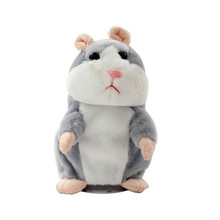 2017 New 15CM Lovely Talking Hamster Plush Toy Cute Speak Talking Sound Record Hamster Talking Toys for Fun Music Sounds Baby(China)