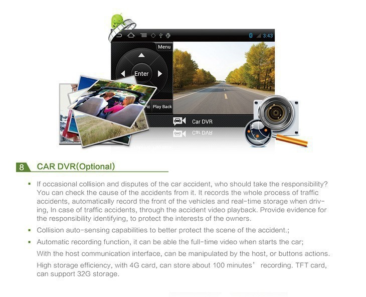 Car dvd GPS Navigation player 9