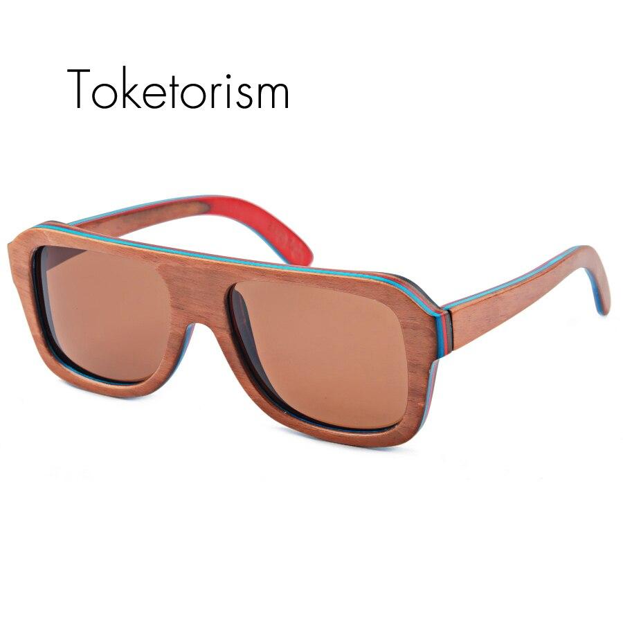 Handmade new wooden skateboard sunglasses polarized fashion wood frame sunglasses female male 9003<br><br>Aliexpress