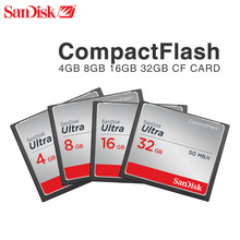 Original Sandisk CF Card 8GB 16GB 32GB Compact Flash Card UItra 333X High-speed 50MB/S SLR Camera Memory Cards(China)