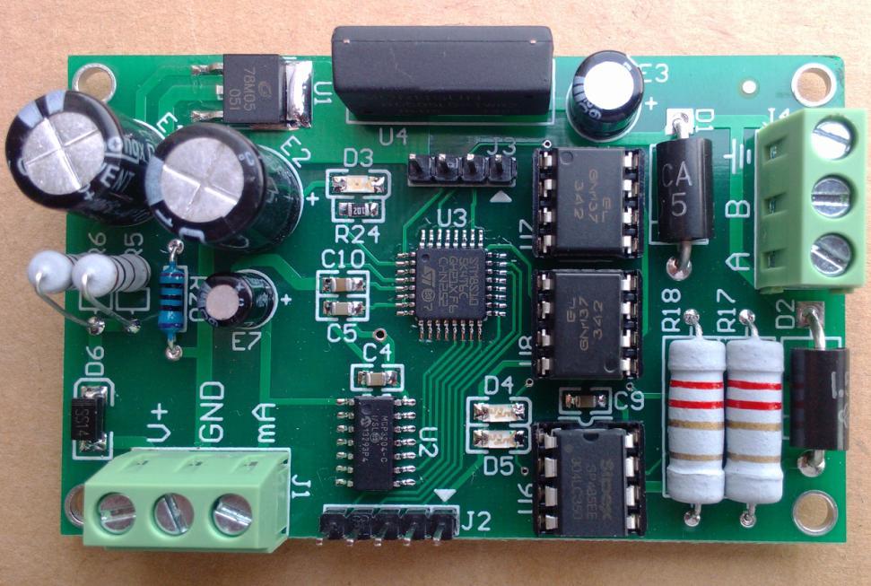 4-20mA Ma Current Analog Acquisition Module, MODBUS RTU Protocol, Photoelectric Isolation to 485 Communications<br>