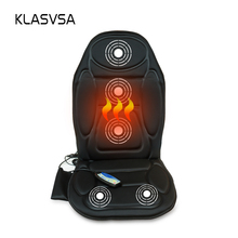 KLASVSA Massage Chair Seat Massager Heat Vibrate Cushion Back Neck Massage Chair Car Pain Massage Relaxation massageador