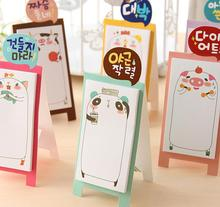 3Pcs Cute standing animal memo Panda Table Notepad stickers note paper Korean stationery school office supplies pepalaria
