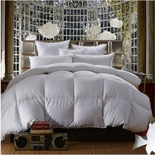 95%White Goose Down Comforter Cotton Tribute Silk Thickening Winter Quilts edredon casal Duvet Blanket solteiro edredom colcha