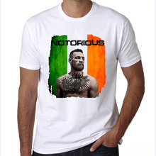komnudt mens t shirts fashion 2017 Conor Mcgregor Print T-Shirt Summer Short Sleeve Fitness T Shirt Fight MMA Clothing