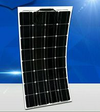 Imports of new battery chip production, 100w semi-flexible solar panels, suitable for 12v voltage, low-cost promotions
