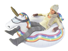Unicorn Winter Snow Tube Flamingo Ride-on Inflatable Sled&Toboggan For Adults Children Skiing Ski Toys Pool Float Air Mattress(China)