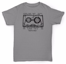 New Brand-Clothing Tee Shirts Print T Shirt Men Hot TAPE cassette RETRO 80'S VINYL SOUL JAZZ RAP Movie T-shirt