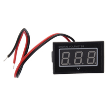 Waterproof 2.5-30V digital voltmeter voltage indicator Monitor Battery Meter DC Auto Gauge small red LED Panel Meter(China)