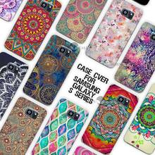 Hot Sale Floral mandala Mandara Clear Case Cover Coque Shell for Samsung Galaxy S3 S4 S5 Mini S6 S7 Edge Plus(China)