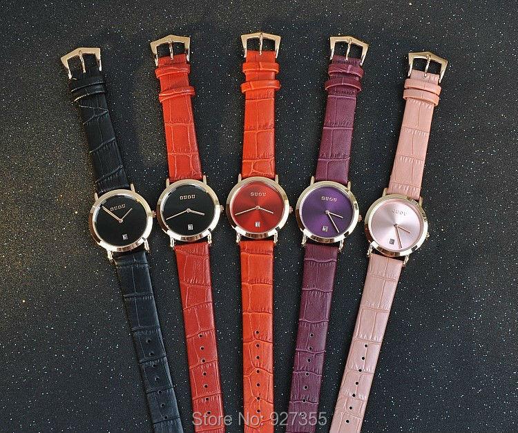 11 Colors Women Watches Fashion Lady Luxury Calendar Wristwatches Genuine Leather  Dress Watch Female Bracelet Watches Clocks<br>