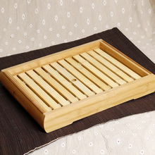 Bamboo Rectangular Tray Japanese Restaurant Sushi Sashimi Seafood Ice Tray Utensils Container Restaurant Dish Vessel Box