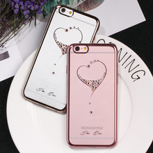 KINGXBAR for iPhone 6s Plus 6 Plus Case Swarovski Element Crystal Diamond Luxury Jewelled Case for iPhone 6 6s Cover Phone Coque(China)