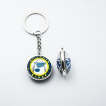10PCS NHL 25MM Jewelry Key Chain Pendant Fashion Accessories For Fans St. Louis Blues Sport Gift(China)