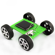 Green 1pcs Mini Solar Powered Toy DIY Car Kit Children Educational Gadget Hobby Funny(China)