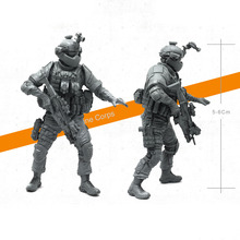 Tobyfancy 1/35 Modern U.S Navy Seals Elite Marines Military Soldier Resin Model Figure YFM-06(China)