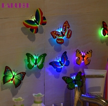 KAKUDER 10 Pcs Wall Stickers Butterfly LED Lights Wall Stickers 3D House Decoration  U61209