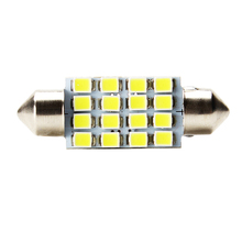 10pcs 39mm LED Car Licence Plate Lights 16SMD 3528 Dome Car Reading Light Bulbs Parking Lamp Auto Accessories Car Styling(China)