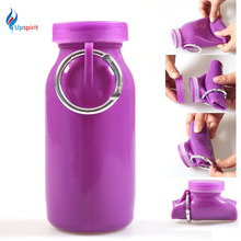 New Coming 350ML Foldable Water Bottle Sport  Portable Camping Drinkware Travel Mug With Hook  PP Plastic Kids Bottle