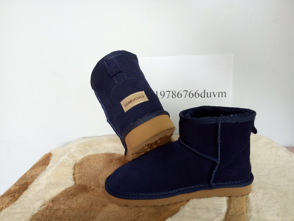Free Shipping New 100% in-kind shooting high quality sheepskin fur Australian classic female short snow boots winter warm boots(China (Mainland))