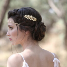 Timlee H127 Fashion Rich Grace Leaf Design Metal  Barrettes  hair accessory,party jewelry wholesale