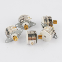 TOP 5pcs NMB 3V -5V  300-500mA DC 4 wire 2 phase Micro stepper motor step angle 18 degrees  with Metal gear free shipping