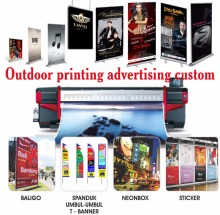 Outdoor printing display Roll up Banner X Banner Sticker Baliho Billboard Spanduk Shopsign free desgin shipping(China)