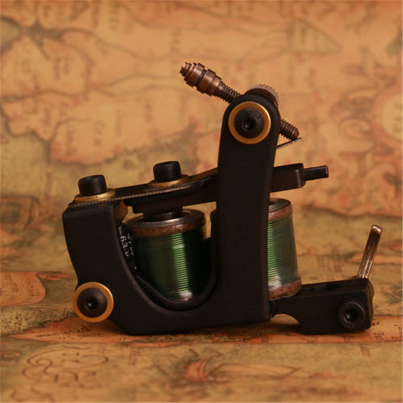 New Arrival Wire Cutting Tattoo Shader Gun Tattoo Machine 10 Wraps  Coils Body Art Tool<br>