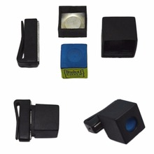 1PC New Pool Billiards Snooker Magnetic Chalk Holder Cue Chalk Holder with Belt Clip Wholesale