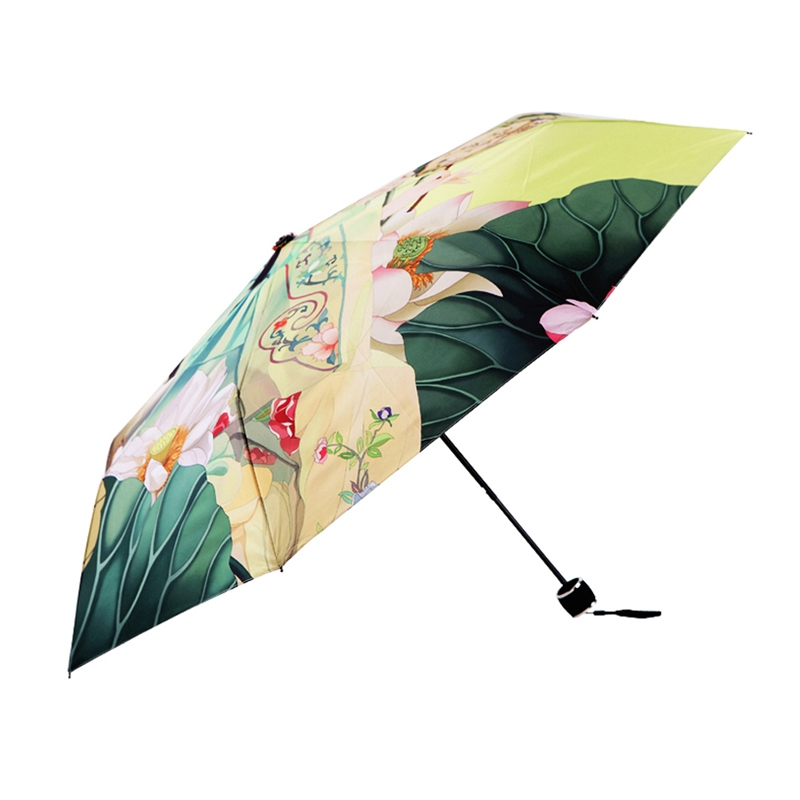 f82bc53b149b Best Selling Outdoor Sun Umbrella Women Anti UV Parasol Folding Umbrella  Digital printed Korean Style Rain Umbrellas - us953