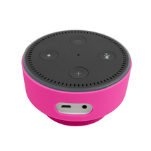 Silicone Protective Case with Suction for Amazon Echo Dot 2,8 colorfor optional, black/white/blue/green/orange/purple/rose/red(China)