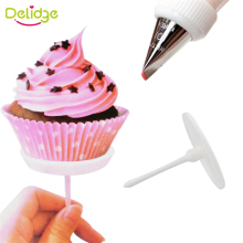 Delidge 4 pc /Set Cake Decoration Needle 4 Sizes Plastic Cake Stand DIY Handmade Rose Flowers Maker HolderIcing Cream Nail Tool