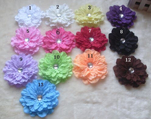 6ps Large Flowers Headdress flower Hair Pins Newborn Kids Peony flowers Hair clips Kids Popular lace clip hair accessoriesA004