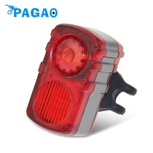PAGAO The new bicycle taillights USB charging 4 kinds of flashing mode waterproof design night ride safety 0189(China)