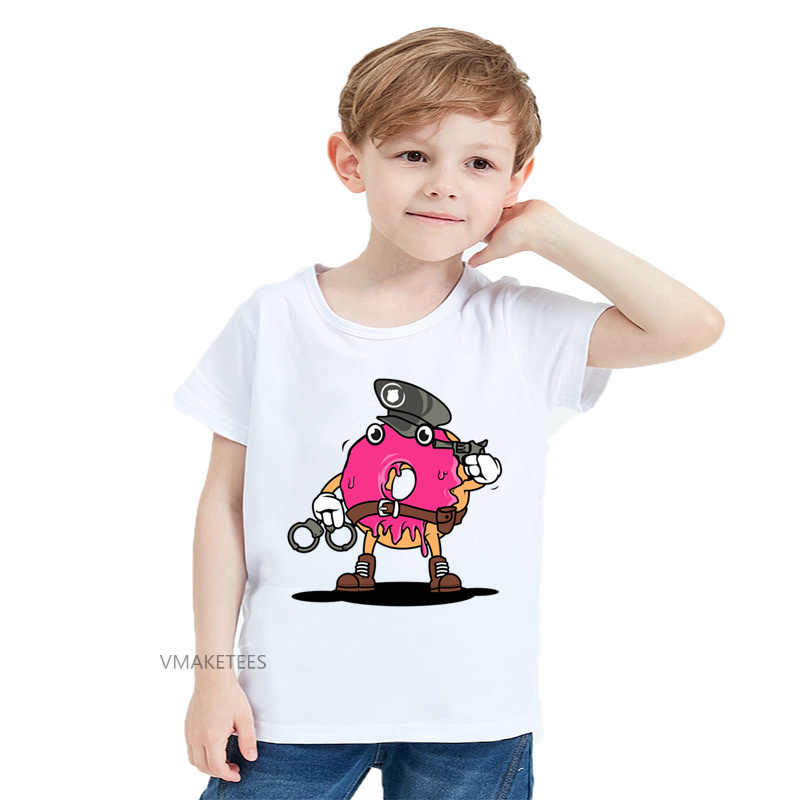 Not Available Sweet Doughnut Shirt Baby Girls Ruffles Print Clothes for 2-6 Years Old Baby
