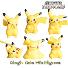 Single Sale Pikachu Mini Action Figures Dolls Collection Toys Japanese Anime Pikachu Toys For Kids Birthday Xmas Gift Lovely