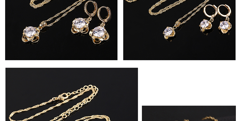 CWEEL Jewelry Sets Fashion African Jewelry Set Nigerian Wedding Zircon Jewerly Sets For Women Gold Color Ethiopian Jewelry (3)
