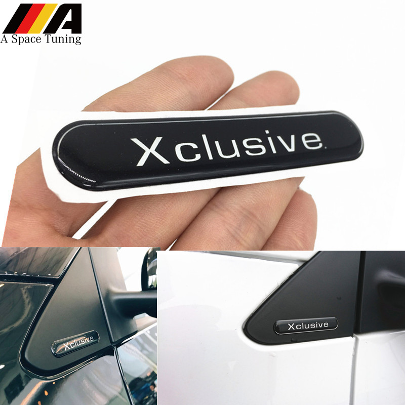 2Pcs Chrome Metal Car Side Emblem Badge sticker Fits for Mercedes Benz Brabus